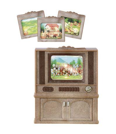 Familles-Sylvanian-Luxe-Television-couleur