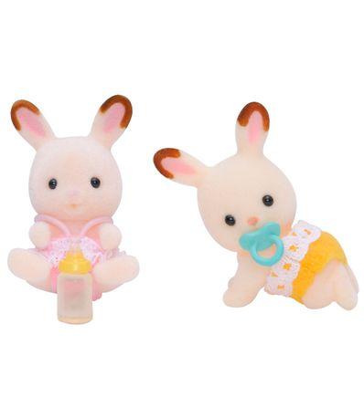 Figures-Sylvanian-lapins-jumeaux