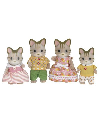 Sylvanian-Chats-famille-Stripes