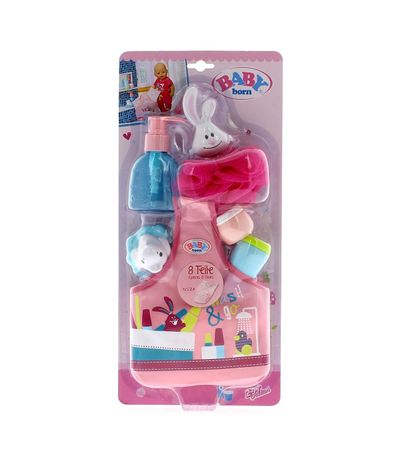 Born-Sac-de-bebe-avec-des-accessoires-de-bain