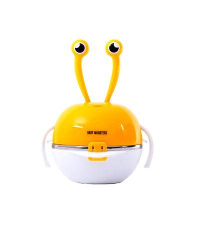 Set-bol-couverts-en-plastique-Crab-Orange
