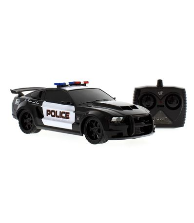 Voiture-R-C-Mustang-Boss-Police-Echelle-1-8