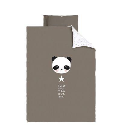 Housse-couette---housse-oreiller-60-70-Panda-Gris