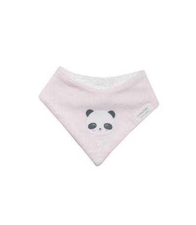 Bavoir-Bandana-Panda-Rose