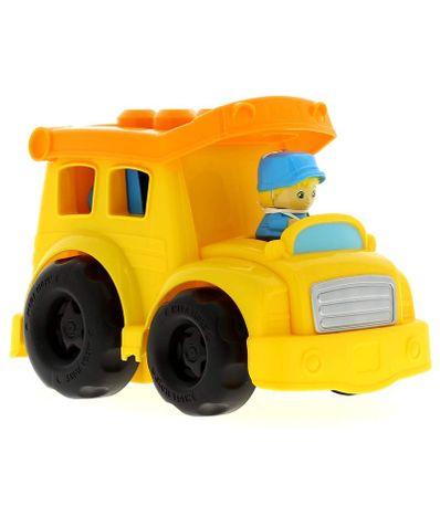 Mega-Bloks-camion-jaune