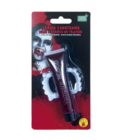 Dents-de-vampire-avec-faux-sang
