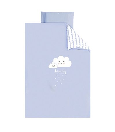 Housse-couette---housse-oreiller-60-70-Cloud-Bleu
