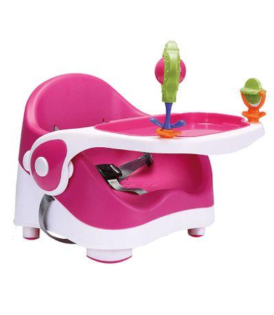 Chaise-haute-avec-des-jeux-Hot-Pink