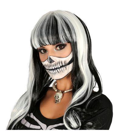 Perruque-cheveux-longs-noir-et-blanc