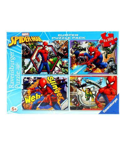 Spiderman-Pack-4-Puzzles-de-100-Pieces