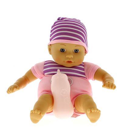 poupee-bebe-avec-un-pyjama-raye-et-biberon