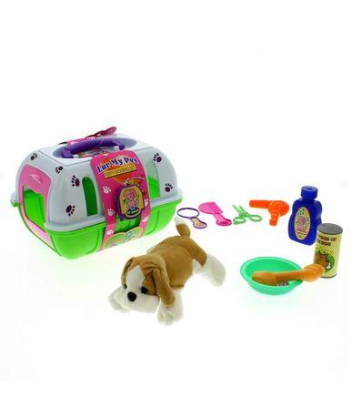 Trasportin-Verde-avec-Puppy-et-accessoires