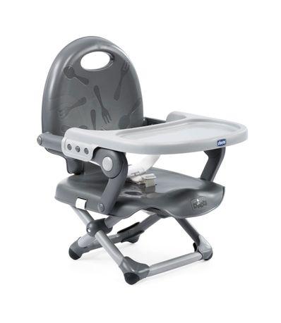 Chaise-haute-portable-Pocket-Snack-Grey