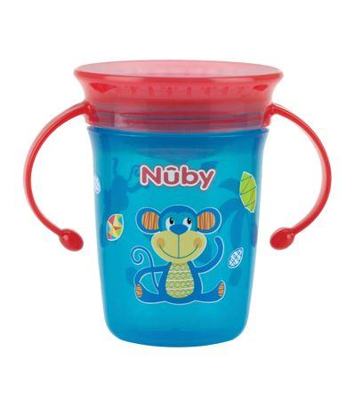 Magic-Cup-360-°-Anti-goutte-a-goutte-avec-poignees-240ml-Aqua