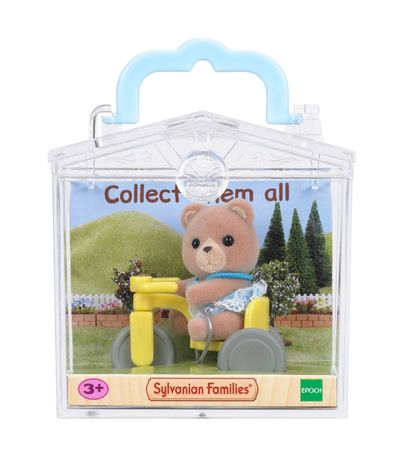 Sylvanian-bebe-ours-sur-Tricycle-Take-Out