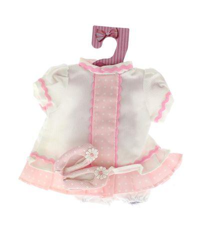 Les-vetements-pour-poupees-Blanc-Rosa-35-cm