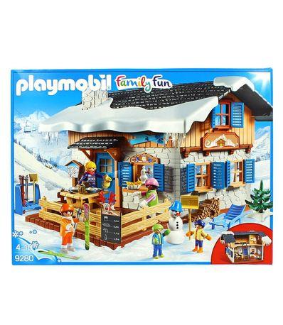 Chalet-avec-skieurs-Playmobil-Fun