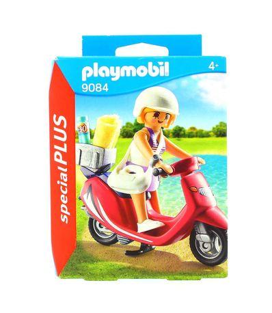Playmobil-Special-Plus-Femme-avec-Scooter