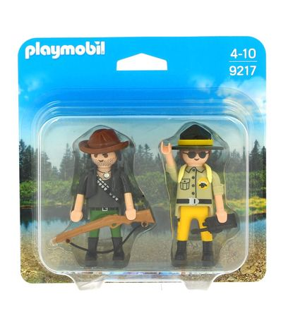 Playmobil-Duo-Pack-Chasseur-et-Garde-Forestiere
