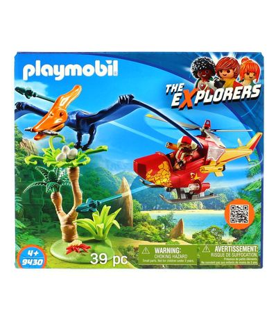 Playmobil-The-Explorers-Helicoptere-avec-Pterosaur