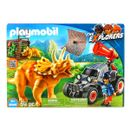 Playmobil-The-Explorers-Voiture-avec-Triceratops