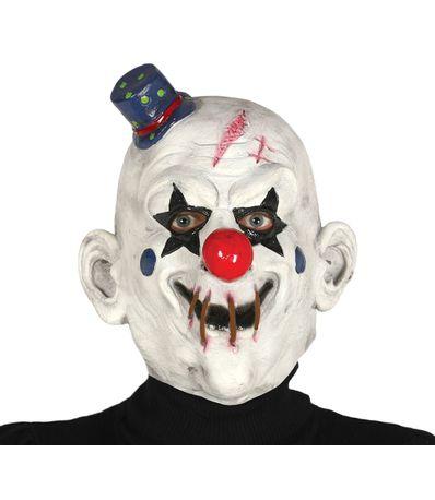Visage-de-clown-avec-chapeau