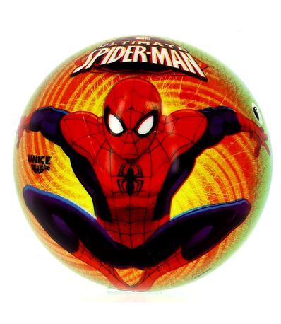 Spiderman-Ultimate-Pelota-Amarilla-de-15-cm