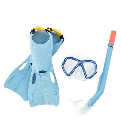 Set-de-plongee-pour-enfants-bleu