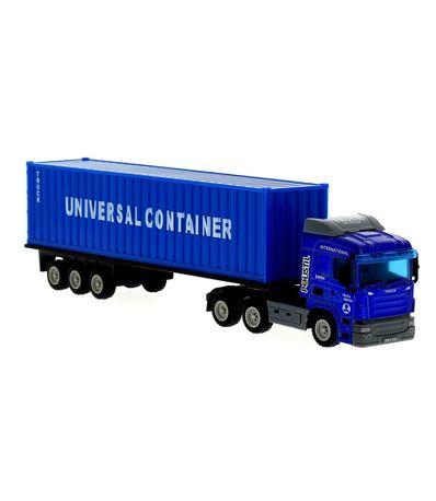 Camion-enfant-sur-la-route-bleue