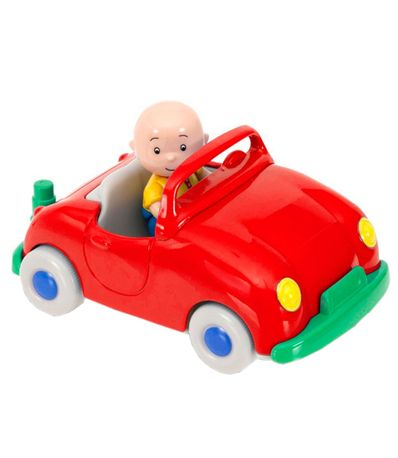 Caillou-Pull-Back-Vehicule-Rouge