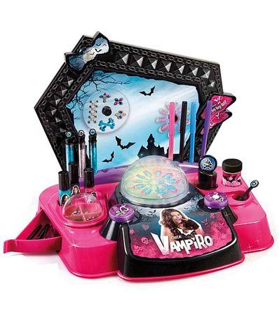 Chica-Vampiro-Machine-Ongles-et-Maquillage