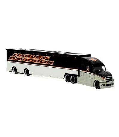 Camion-Harley-Davidson-Argent-Echelle-1-64