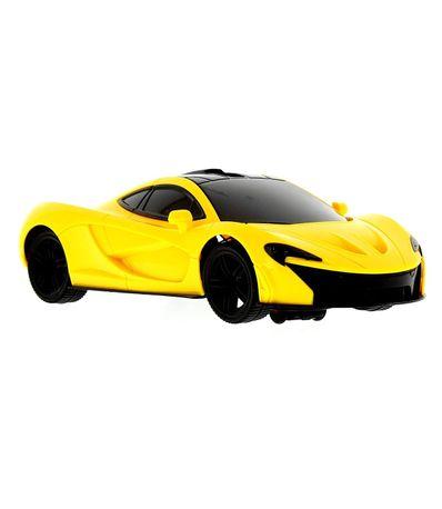 Vehicule-de-course-avec-lumiere-jaune