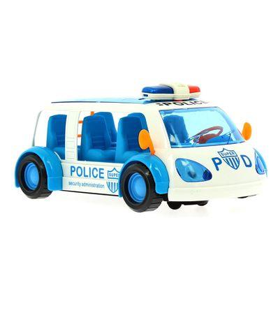 Un-vehicule-de-police-pour-enfants-sauve-des-obstacles-blancs