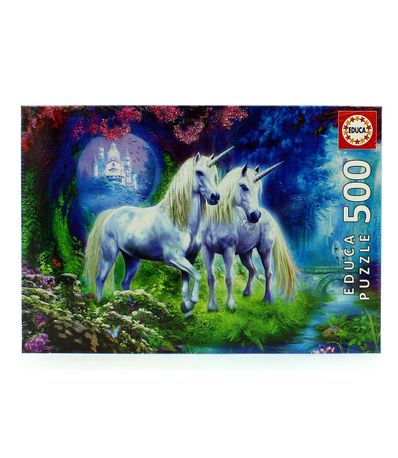 Puzzle-Unicornios-en-el-Bosque-de-500-Piezas