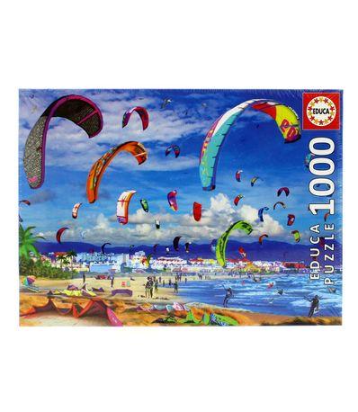 Puzzle-Kitesurfing-en-la-Playa-de-1000-Piezas