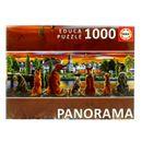 Puzzle-Panoramico-Perros-en-el-Embarcadero-de-1000-Piezas