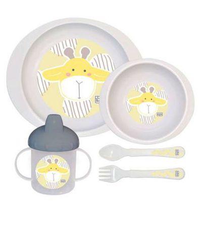 Micro-ondes-5-pieces-Jungle-Giraffe-vaisselle