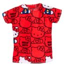 Barbie-Moda-Camiseta-Hello-Kitty-Roja