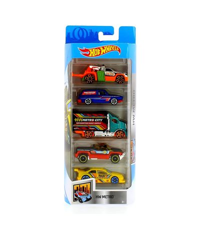 Hot-Wheels-Pack-5-vehicules-HW-Metro