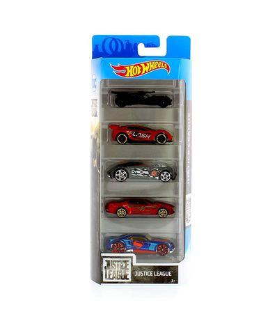 Hot-Wheels-Pack-5-vehicules-Justice-League