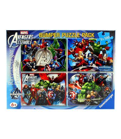 Les-Vengeurs-Superpack-4-Puzzles-de-100-pieces