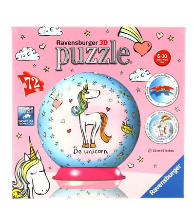 72-pieces-Unicorn-Puzzleball-3D