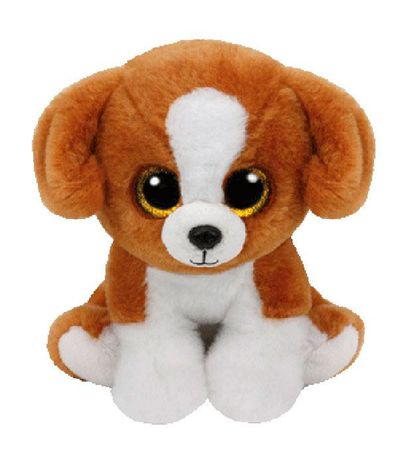 Peluche-Brown-Dog-de-Beanie-Boo-de-15-cm