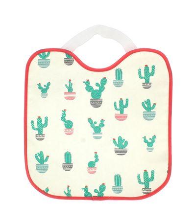 Bavoir-impermeable-elastique-Cactus-fille