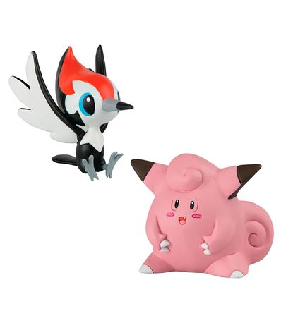 Figurines-de-combat-Pokemon-Pikipek-et-Clefairy
