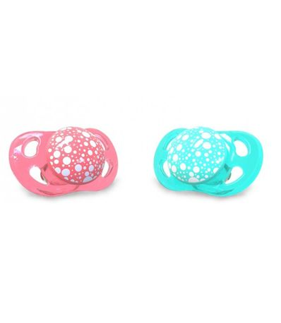 Pack-2-Sucettes-Silicone--6-Mois-Corail---Turquoise
