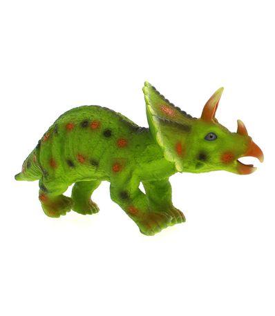Dinosaure-avec-son-Triceratops-vert