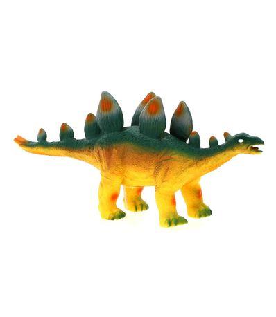 Dinosaure-avec-son-jaune-Stegosaur