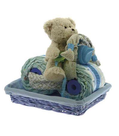 Gateau-de-couches-en-forme-de-Moto-avec-ourson